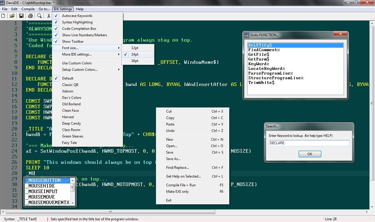 SOLVED] QB64 exception - Run Qbasic